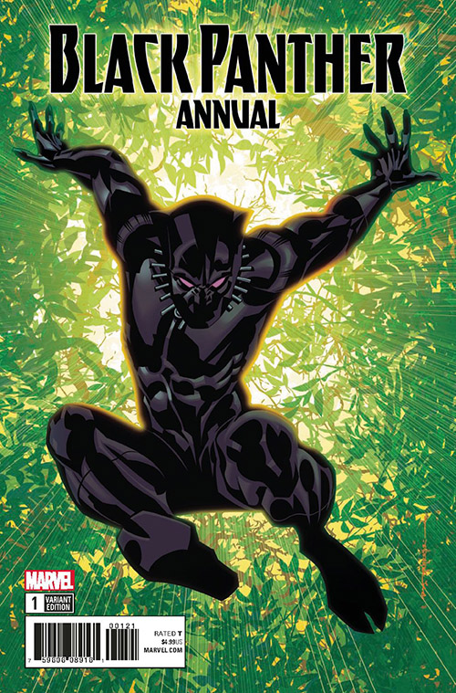 BLACK PANTHER ANNUAL #1. Cover art by Brian Stelfreeze.