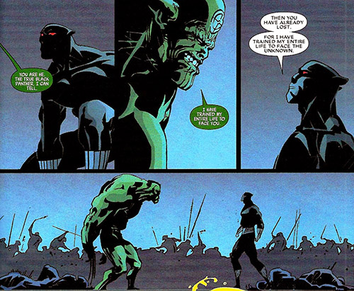 T'Challa stares down an alien invasion. Art Jefte Palo. Words by Jason Aaron.