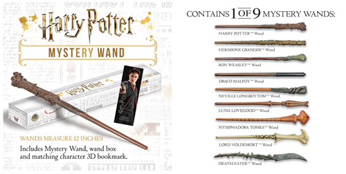 NEW /& UNOPENED Noble Collections Harry Potter Mystery Wand Series 2