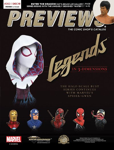 Front Cover -- Diamond Select Toys' Legends in 3-Dimensions Busts