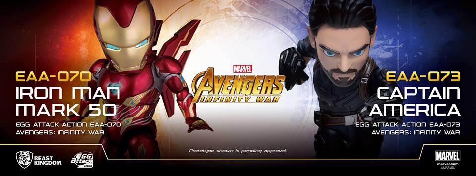 Previews Exclusive Captain America Iron Man Egg Attack Action