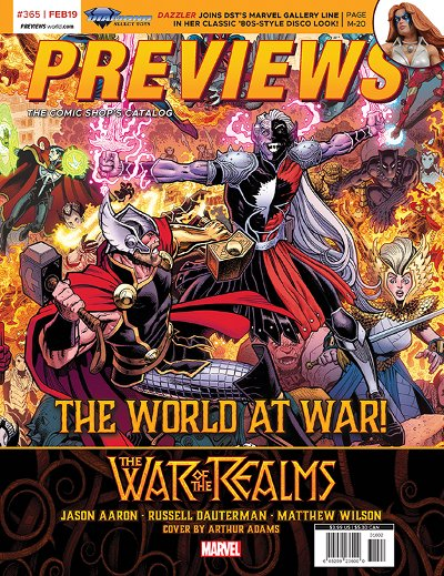 Back Cover -- Marvel Comics' War of the Realms #1