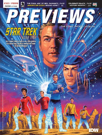 Front Cover -- IDW Publishing's Star Trek: Year Five #1
