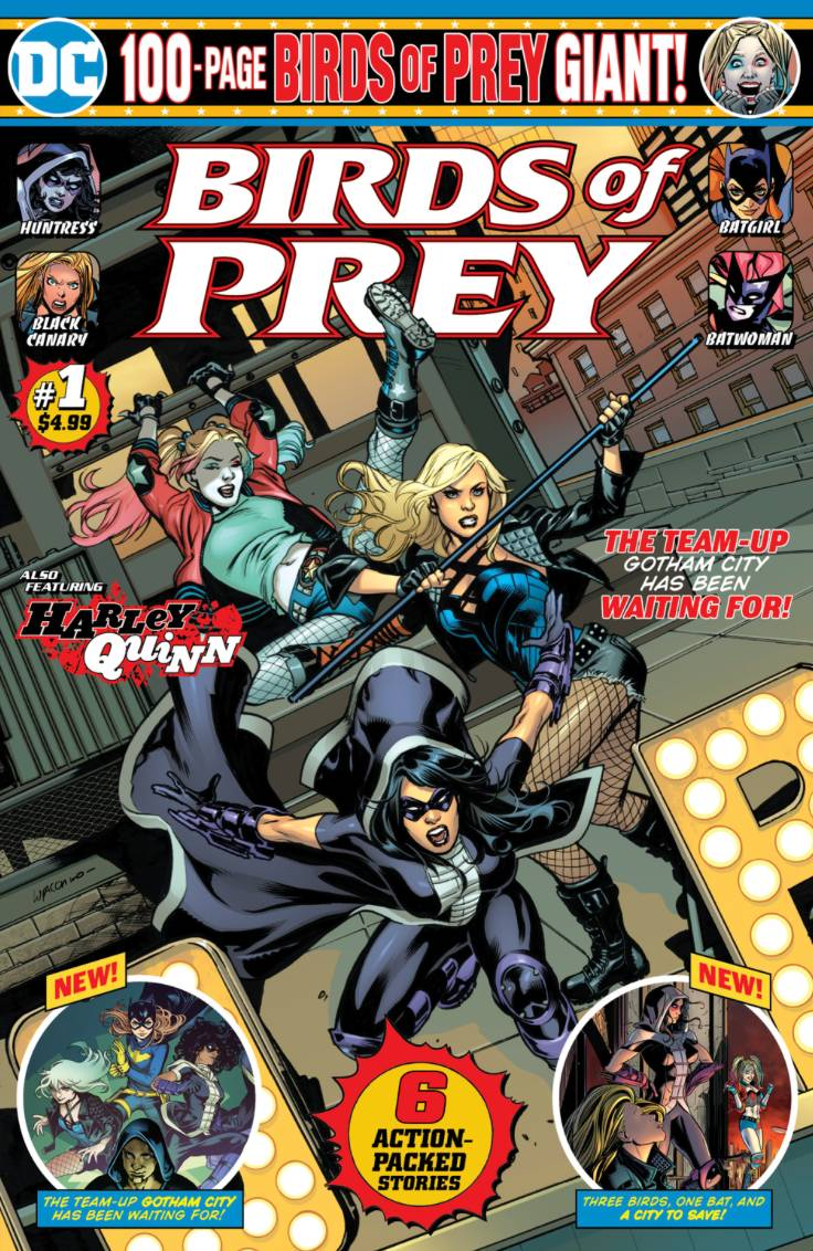 Dc Reveals Contents Cover For Birds Of Prey Giant 1 Previews World
