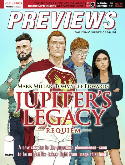 Front Cover -- Image Comics' Jupiter's Legacy: Requiem #1